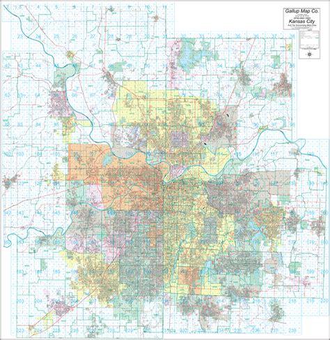 zip code map kansas kansas city street and zip code wall map gallup map