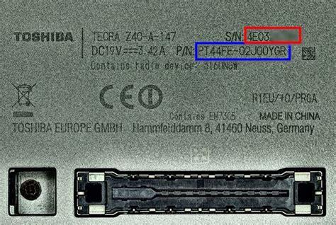 toshiba find model serial number makerewards