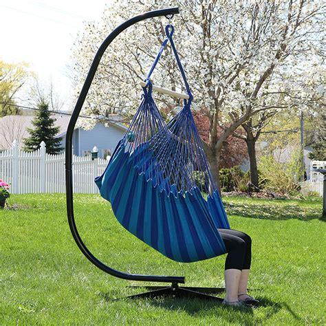 chair hammock swing sunnydaze jumbo hanging chair hammock swing c stand