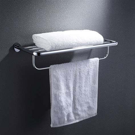 Bathroom Towel Storage Wall Mounted All Brass Wall Mounted Bathroom Towel Rail Holder Storage High Quality Shelf Ebay