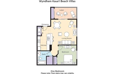 beach club villas floor plan club wyndham wyndham kauai beach villas