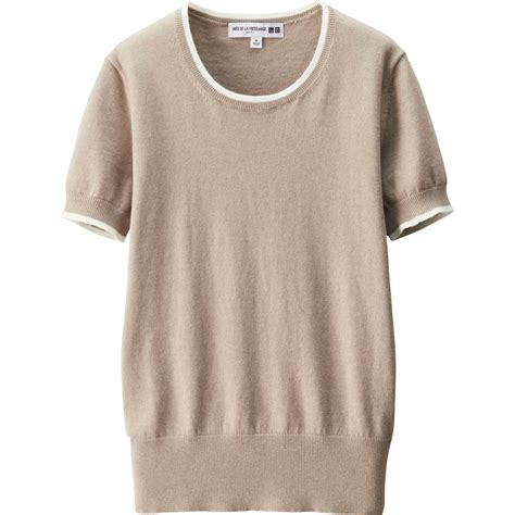 Sweater Wanita Fashion Garsel 7 uniqlo idlf cotton crewneck sweater in beige lyst