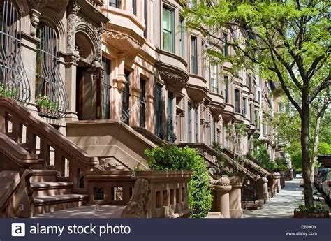 Apartment Complex West Side Brownstone Apartment Houses Buildings Residences On The