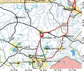 cameron carolina map map