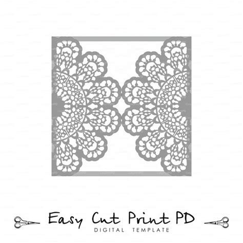 silhouette cameo card templates wedding invitation lace crochet doily pattern card template svg dxf dwg ai eps png pdf