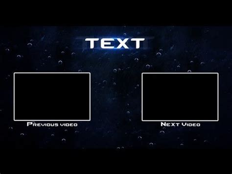 youtube outro template raingfx youtube