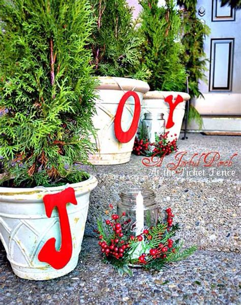 christmas flower pots christmas decor pinterest