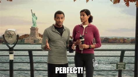 name of the liberty mutuals black couple black couple doing liberty mutual comercial who is black