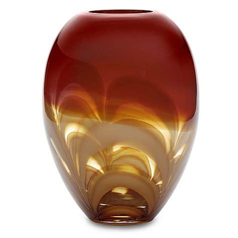 ginger vase evolution by waterford 174 red amber 11 inch ginger vase