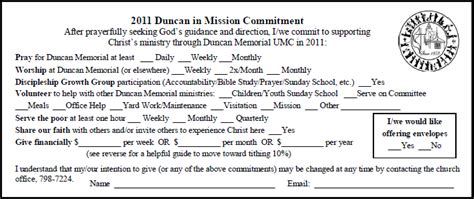 church finacial pledge cards template pledge card committment card sle that includes more