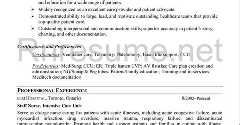 icu rn resume sle http www rnresume net check our rn