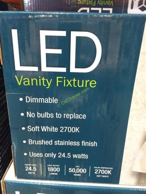 costco bathroom lighting feit electric 3 light bath vanity integrated led lights