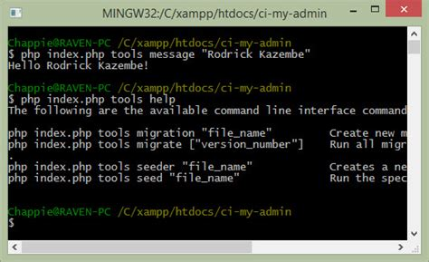 Codeigniter Migration Tutorial   php codeigniter 3 0 database migration through