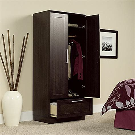 sauder clothing armoire sauder home plus dakota oak armoire 411312 the home depot