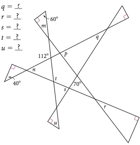 Geometry Missing Angles Worksheet by Missing Angle Worksheet Worksheets