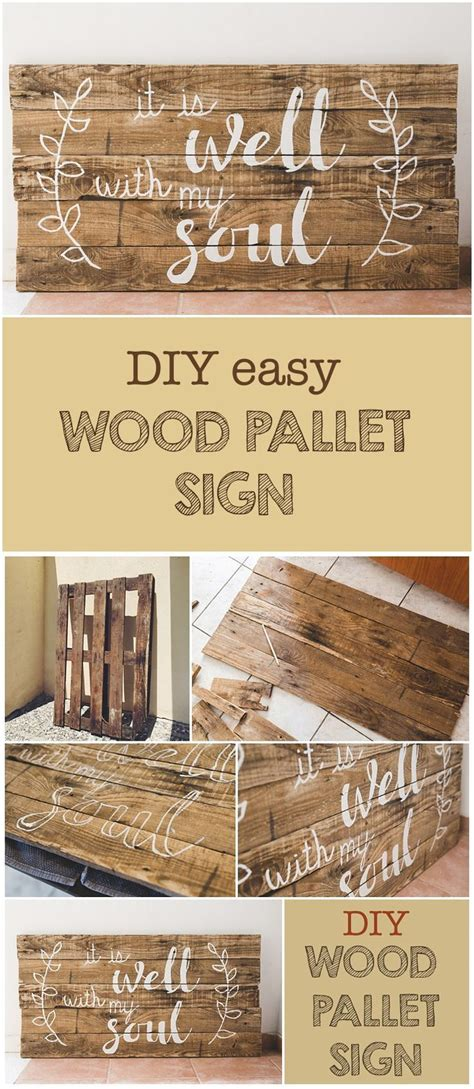 diy wood pallet sign   printable wood projects