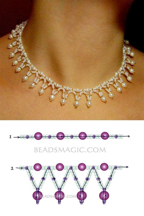 seed bead necklace patterns free pattern for necklace tenderness seed 11 0 pearl
