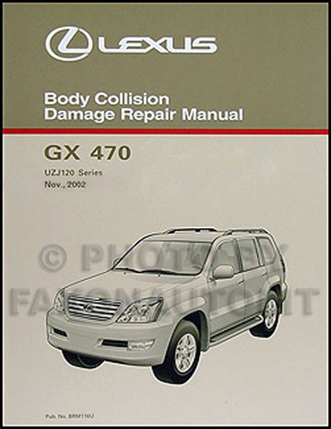 old car owners manuals 2009 lexus is f interior lighting 2003 2009 lexus gx 470 body collision repair shop manual original