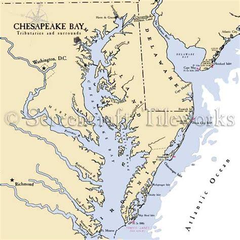 maryland bay map virginia chesapeake bay nautical chart decor