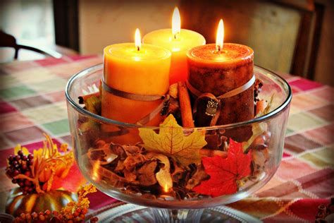 candle centerpieces for home fall leaves and candles ideas fresh home improvement