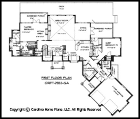 how big is 2900 square feet large craftsman style house plan crft 2953 sq ft luxury