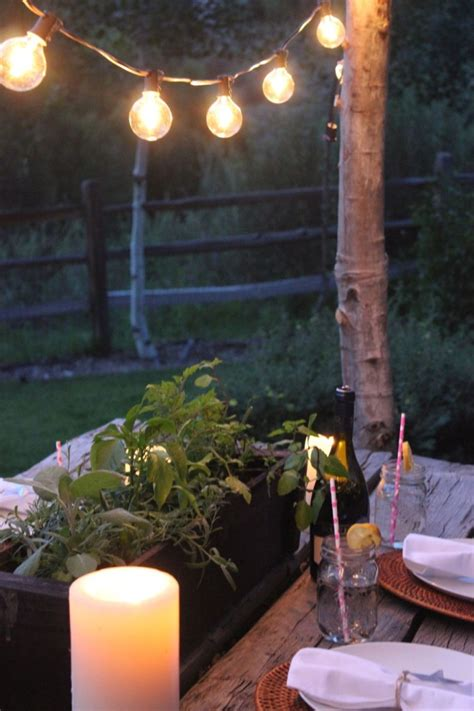 Diy Patio Lights Make Diy String Light Poles With Concrete Stands For Outdoor Entertaining