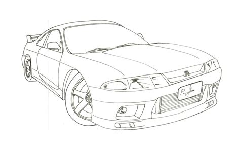nissan skyline drawing outline nissan skyline r33 blueprint