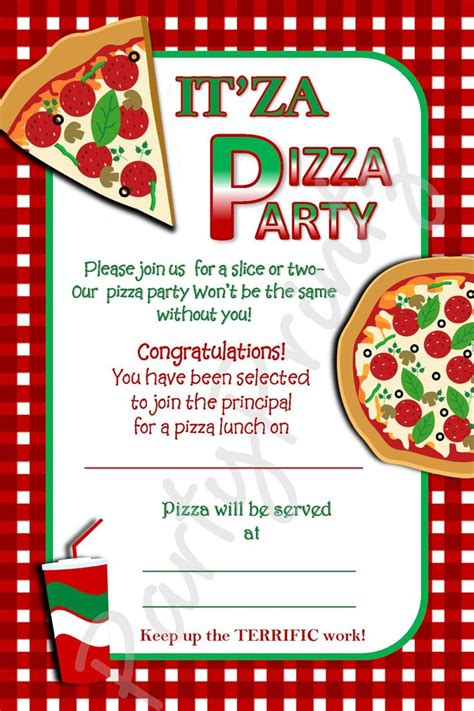 Pizza Party Invitation Template Free   You are Invited