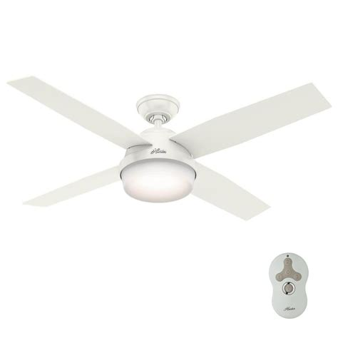 hunter exeter led ceiling fan hunter dempsey 52 in led indoor outdoor fresh white
