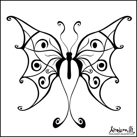 butterfly with tribal tattoos the gallery for gt black and white tribal butterfly tattoos