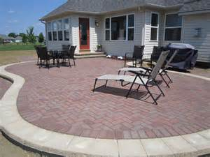 Patio Designs Pictures Paver Patios Here S A Raised Paver Patio With A