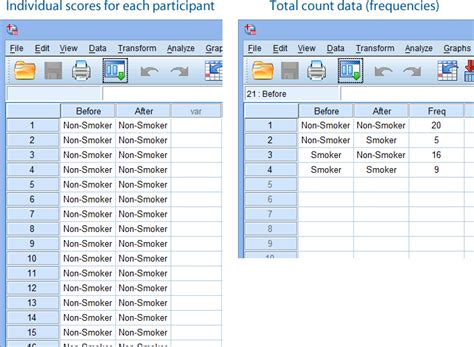 spss tutorial input data mcnemar s test in spss statistics procedure output and