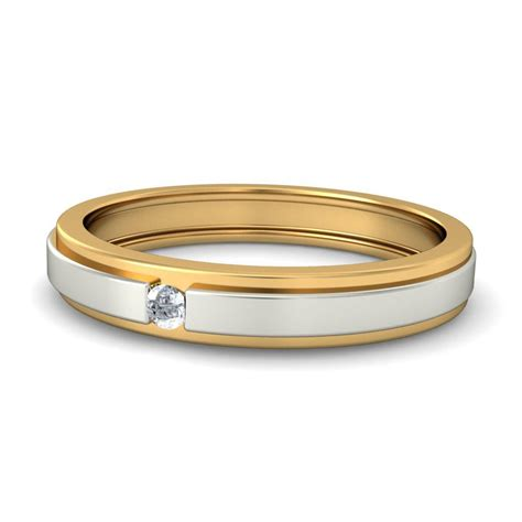 Two Tone Wedding Bands by Affordable Wedding Band In Two Tone Gold