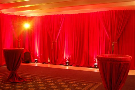 red drape velvet drapes for hire or sale flame retardant curtain