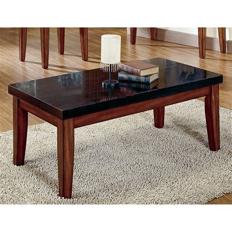 granite top table steve silver montibello granite top coffee table coffee