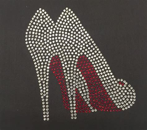 bling high heels high heels fancy shoes iron on rhinestone bling