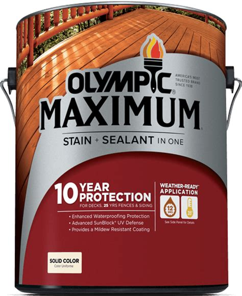 olympic maximum stain sealant   solid color