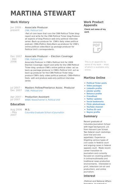 7 associate producer cv exle visualcv resume sles
