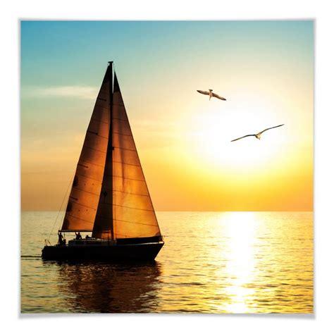 bild kinderzimmer segelboot poster segelboot im sonnenuntergang wall de
