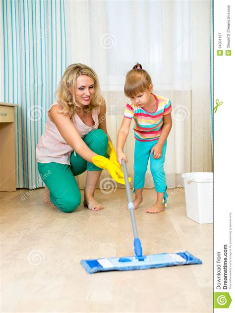 Clean The Room by And Kid Clean Room Royalty Free Stock Photography