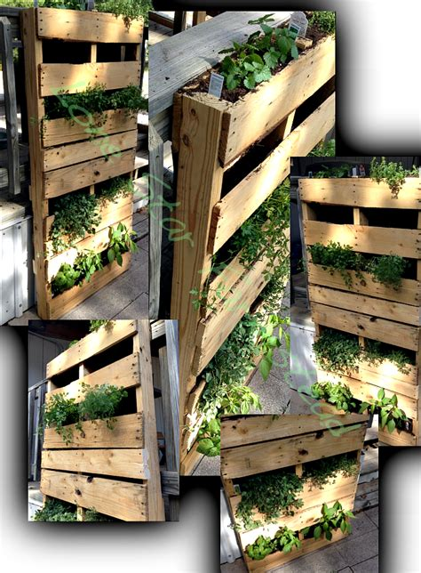 Vertical Garden Made From Pallets Vertical Pallet Garden Lone Farmstead