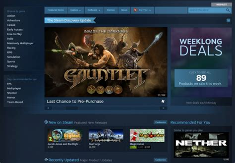 home design software steam steam gets a new personlized home page