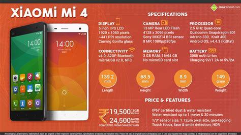 Lte 66 Gb xiaomi mi 4 64 gb lte features specifications details