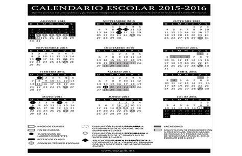 periodo vacacional 2016 en el gobierno del df gob mx publica sep calendario escolar para el ciclo 2015 2016