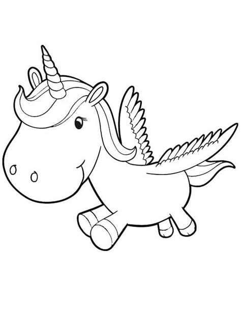 coloring pages of cute baby unicorns cute unicorn coloring pages getcoloringpages com