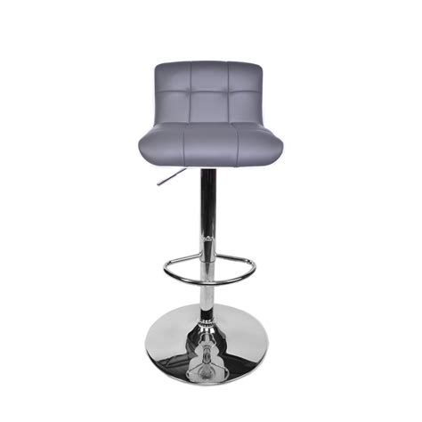 grey kitchen bar stools mdm grey faux leather with white abs basilea kitchen