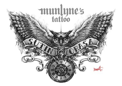owl tattoo design by munlyne on deviantart