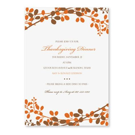 thanksgiving card templates microsoft thanksgiving dinner invitation template by loveandpartypaper