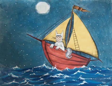 boat from where the wild things are where the wild things are art print max on his boat ride