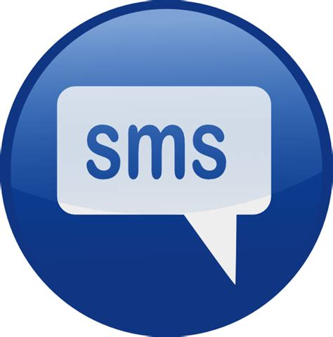 text message clipart blue sms icon clip at clker vector clip